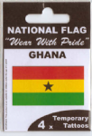 Ghana Country Flag Tattoos.